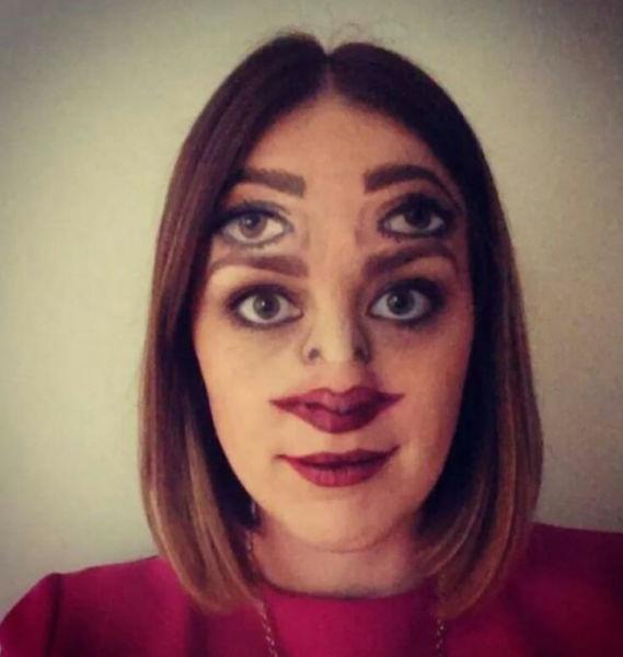 Verkleidungen Gesicht Schminke Doppelt Fasching Facepai Die