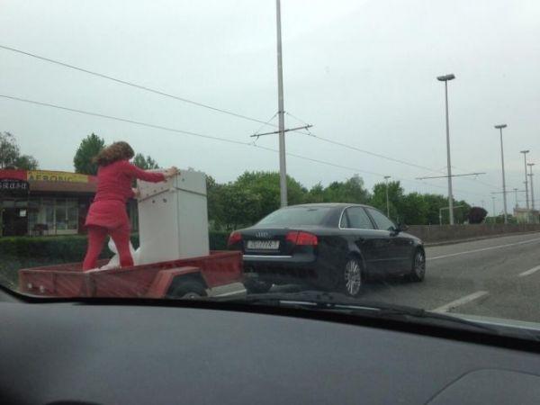Die besten 100 Bilder in der Kategorie transport: Kühlschrank, Transport, gefährlich, Anhänger, Sicherheit, dumm