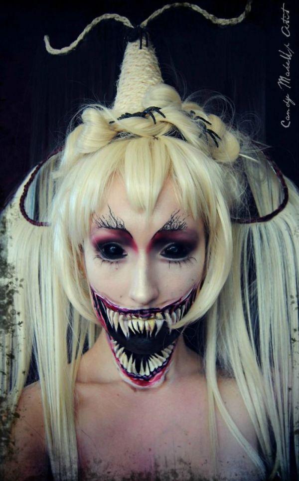Verkleidungen Schminke Idee Fasnet Halloween Frau Kont Die