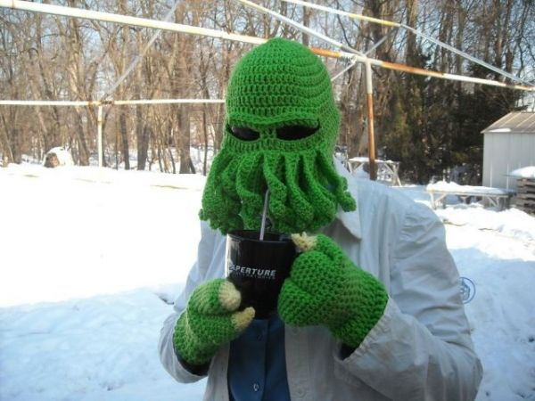 futurama, zoidberg, knit, mask