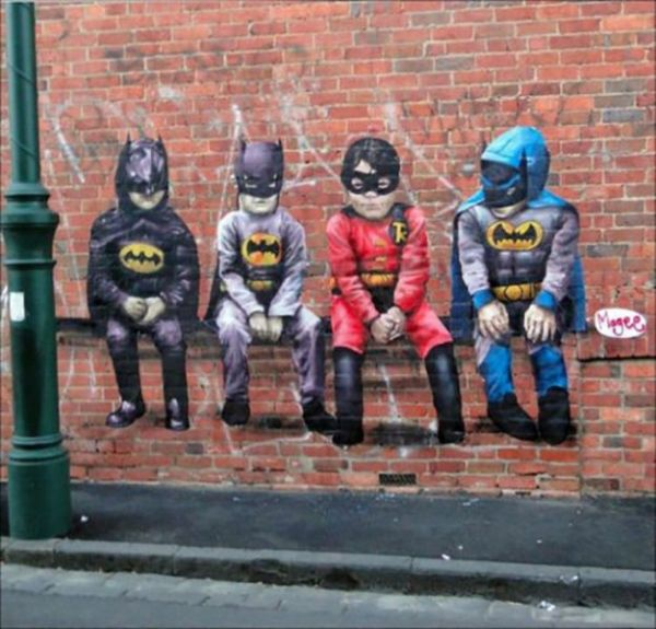 Die besten 100 Bilder in der Kategorie graffiti: Robin, Batman, Graffiti, Kinder