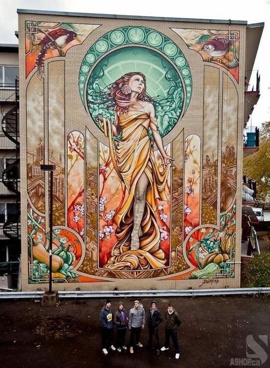 Die besten 100 Bilder in der Kategorie graffiti: Graffiti, Jugendstil, Hauswand
