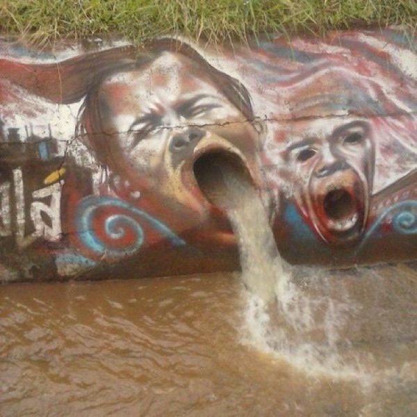 Die besten 100 Bilder in der Kategorie graffiti: grafitti, Abwasserkanal, lustig, kreativ