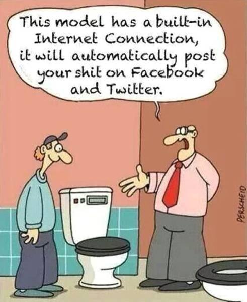 CARTOONS: post, shit, facebook, twitter, toilet, highte - Die ...