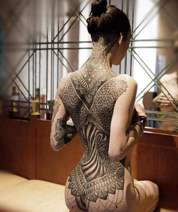 Tattoo frauen intim 42 Totenkopf