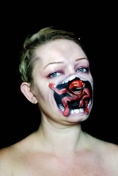 Die besten 100 Bilder in der Kategorie bodypainting: Bodypainting, Gesicht, Monster