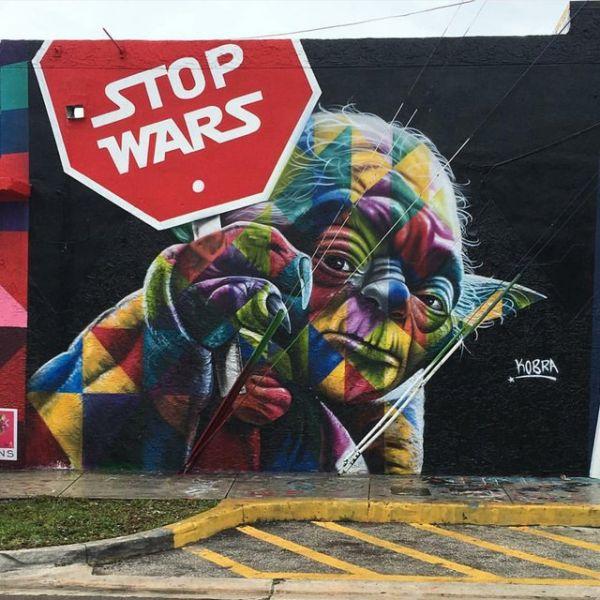Die besten 100 Bilder in der Kategorie graffiti: Star wars, Stop Wars, Grafitti, Meister Yoda