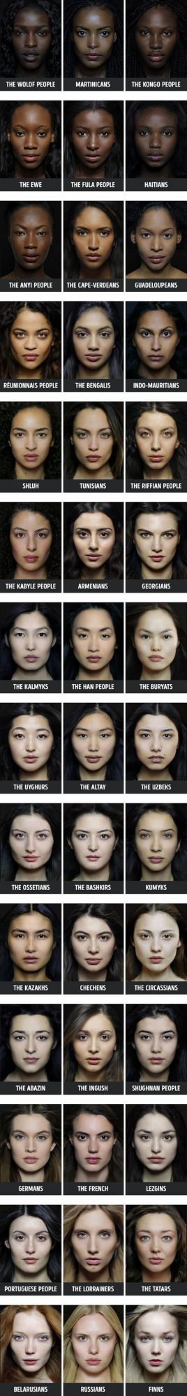 Women, skin color, face, appearance, palette, people, nations, countries