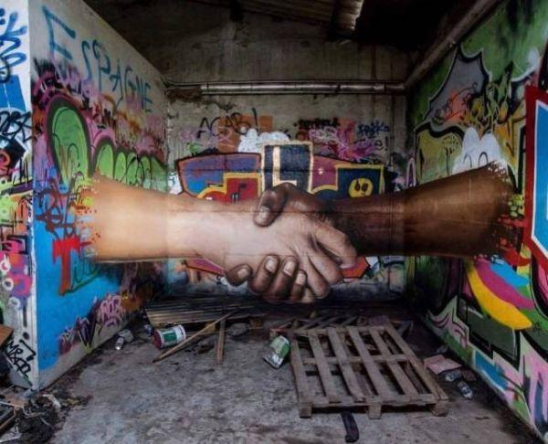Die besten 100 Bilder in der Kategorie graffiti: 3D, Grafitti, optische Täuschung