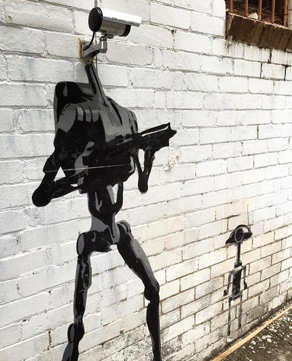 Die besten 100 Bilder in der Kategorie graffiti: Überwachungskamera, Kampf-Droiden, Star Wars