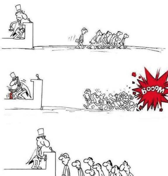 Die besten 100 Bilder in der Kategorie cartoons: Terror, Politiker, Angst