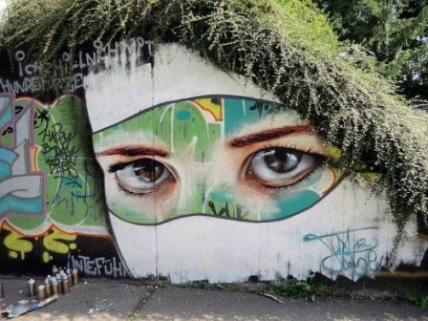 Die besten 100 Bilder in der Kategorie graffiti: realistisch, Grafitti, Augen, Gebüsch, kreativ, Kunst