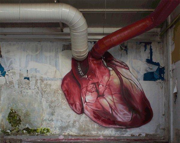 Die besten 100 Bilder in der Kategorie graffiti: Herz, Venen, Blutader, Rohre, kreativ