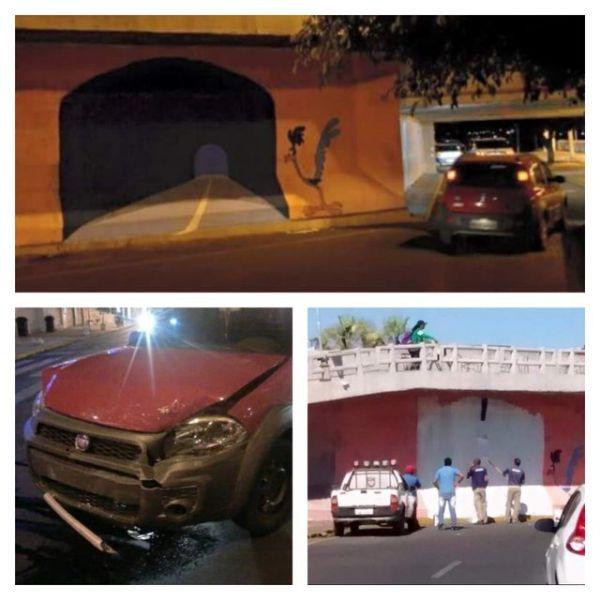 Die besten 100 Bilder in der Kategorie graffiti: Grafitti, Optische Täuschung, Roadrunner, Tunnel, Auto, Unfall