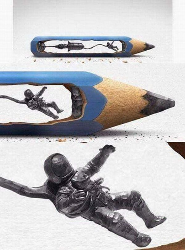 Astronaut, Art Product, Pencil, Small, Fragile