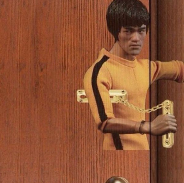 Bruce Lee, Door, Security, Kung Fu, Door Chain, Fun, Fun