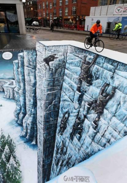 Die besten 100 Bilder in der Kategorie strassenmalerei: Mauer, Serie, Kunst, 3D, optische Täuschung, Game of Thrones