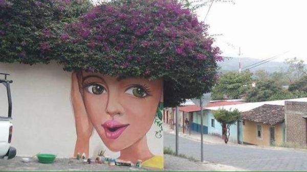 Die besten 100 Bilder in der Kategorie graffiti: Gesicht, Haare, Blumen, Pflanze, Grafitti, Kunst