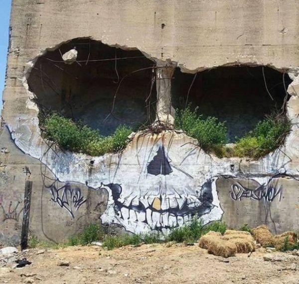 Die besten 100 Bilder in der Kategorie graffiti: Totenkopf, Ruine, Haus, Grafitti, Loch, Löcher