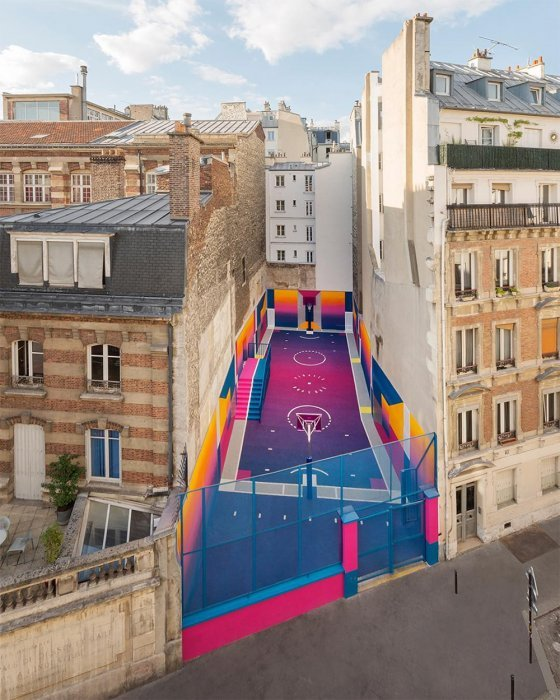 Basketball, pop, design, city beautification, color