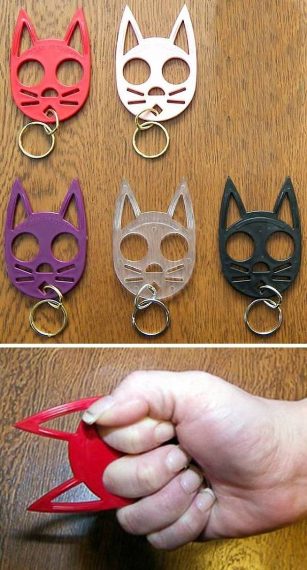 Cat, brass knuckles, puncher