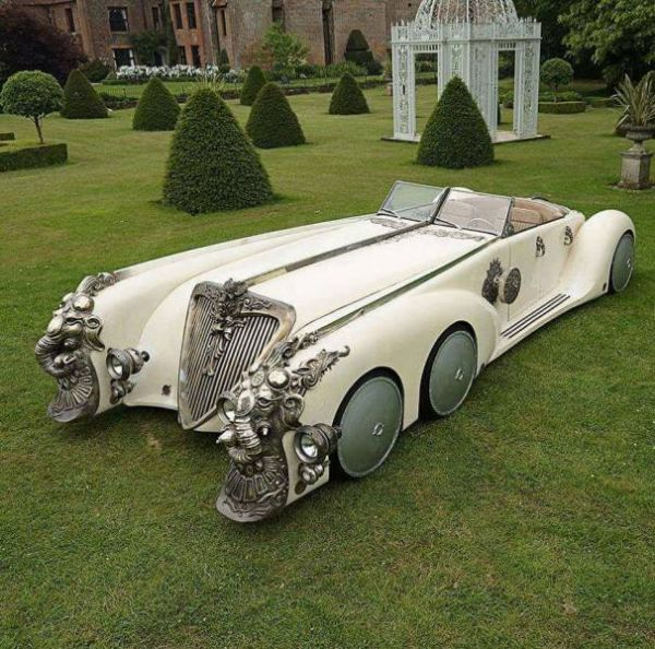 Oldtimer, single piece, car, extravagant