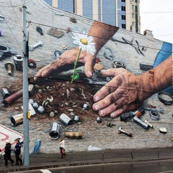 Die besten 100 Bilder in der Kategorie graffiti: Pflanze, Müll, Fortschritt, Graffiti, Mauer, Blume