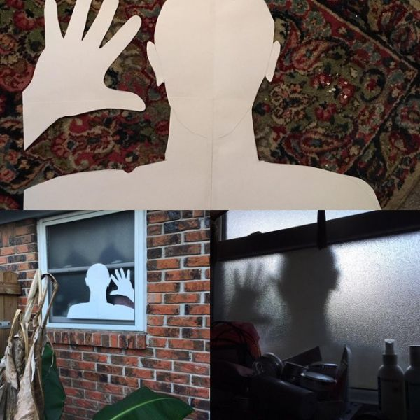 Frightening, prank, shadow, silhouette