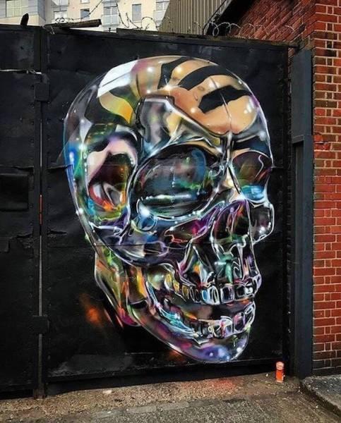 Die besten 100 Bilder in der Kategorie graffiti: Totenschädel, Reflex, Grafitti