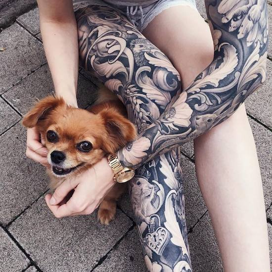 tattoo, ornaments, leg, arm