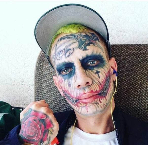 Joker, tattoo, horror, face