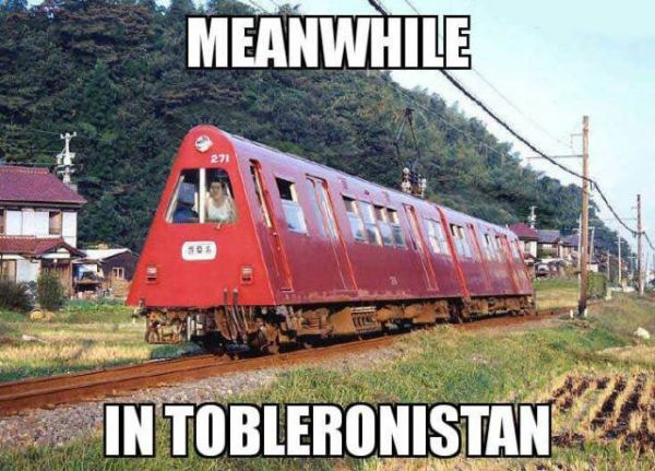Tobleronistan, train, triangle, form, China