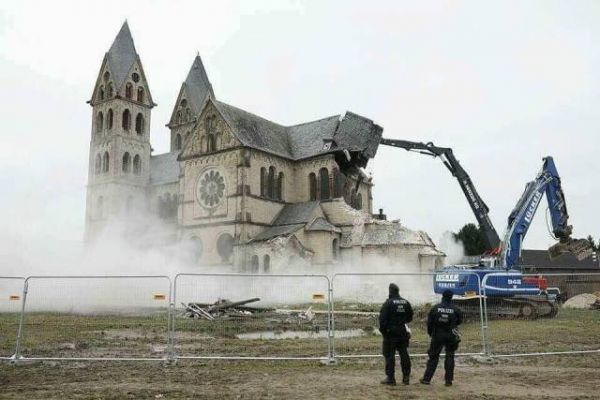 Church, demolition, sin, catholic