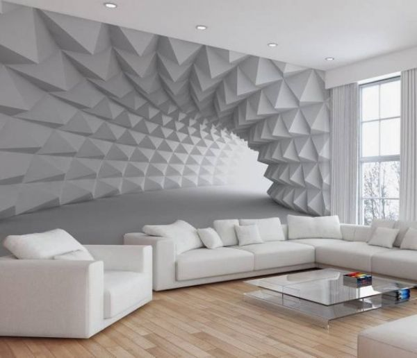 3D wallpaper, optical illusion, design