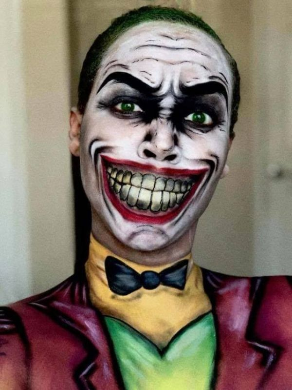 Body painting, Joker, make-up, cartoon