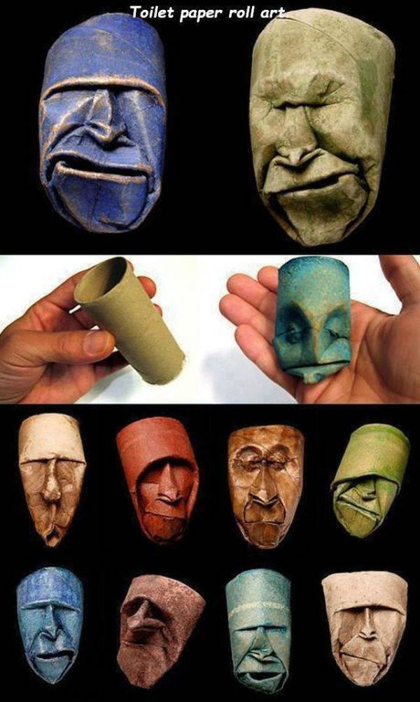 Faces, Art, paper, roll