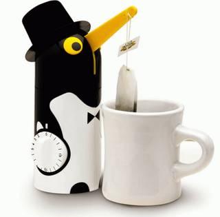 Die besten 100 Bilder in der Kategorie clever: Pinguin-Teebeutel-Zeituhr
