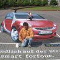 Die besten Bilder in der Kategorie strassenmalerei: Smart-Straßenmalerei