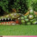 The Best Pics:  Position 19 in  - Funny  : Krokodil-Bodypainting
