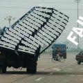 Die besten Bilder in der Kategorie transport: Transport-FAIL - da läuft was schief beim Transport
