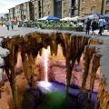 Die besten Bilder in der Kategorie strassenmalerei: Riesen-Höhle unter Straße - Streetart