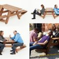Die besten Bilder in der Kategorie moebel: Klappsitz Tisch Kombination