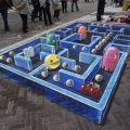 Die besten Bilder in der Kategorie strassenmalerei: 3D Pacman Straßenmalerei Kunst
