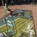 Die besten Bilder in der Kategorie strassenmalerei: 3D Unterirdischer Tennisplatz