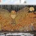 Die besten Bilder in der Kategorie kunst: Eule Holz Schicht Kunst
