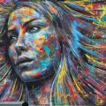 Die besten Bilder in der Kategorie graffiti: Colorful Spraypaint Portraits of David Walker