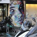 Die besten Bilder in der Kategorie graffiti: Colorful Spray Paint Portraits of David Walker