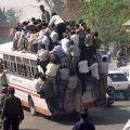 Die besten Bilder in der Kategorie transport: Überladener Reisebus