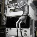 Die besten Bilder in der Kategorie graffiti: Creative Graffiti on Bus