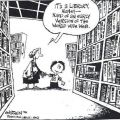 Die besten Bilder in der Kategorie cartoons: Its a Library, Honey - Kind of an early Version of the World Wide Web